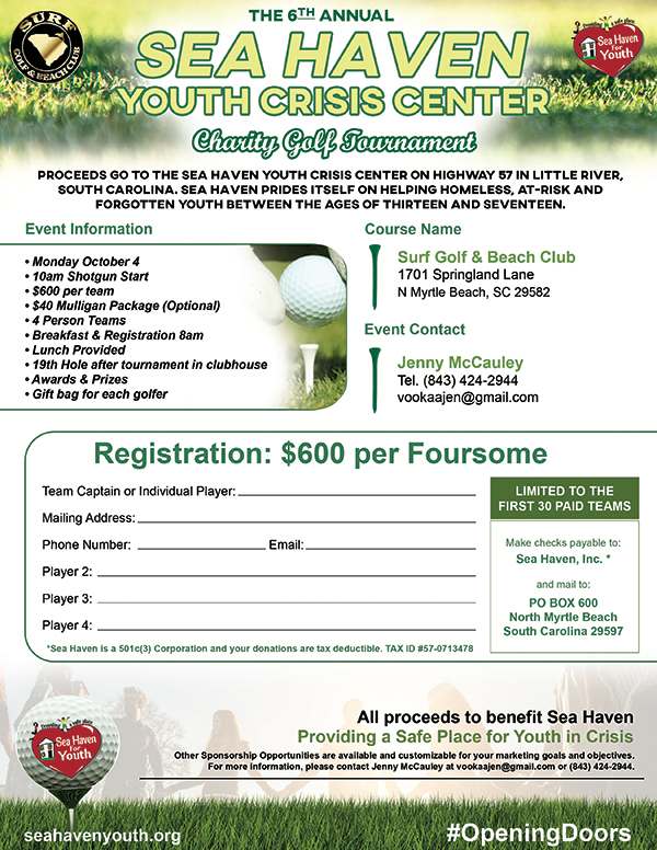 The 6th Annual Sea Haven Youth Crisis Center Charity Golf Tournament