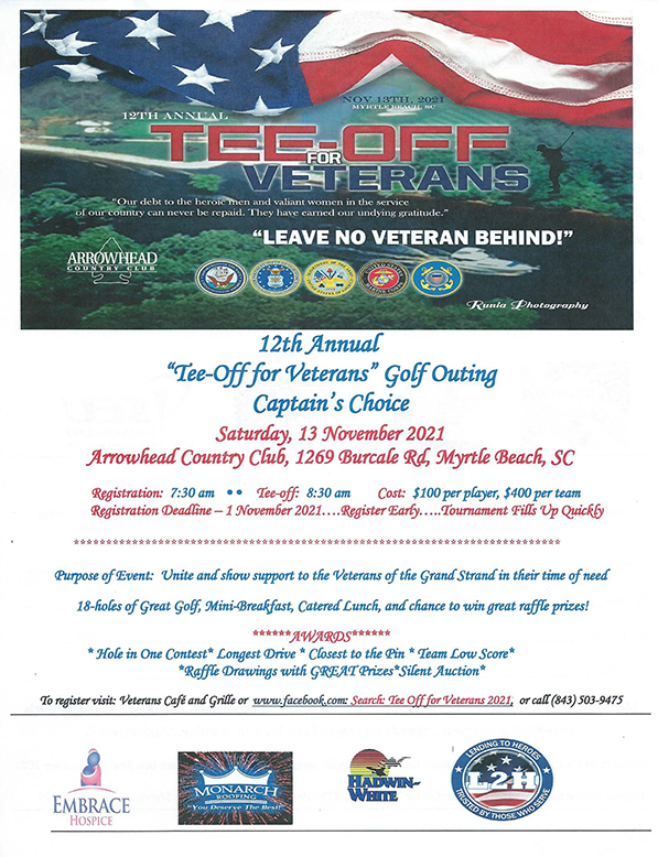 12th Annual Tee-Off for Veterans